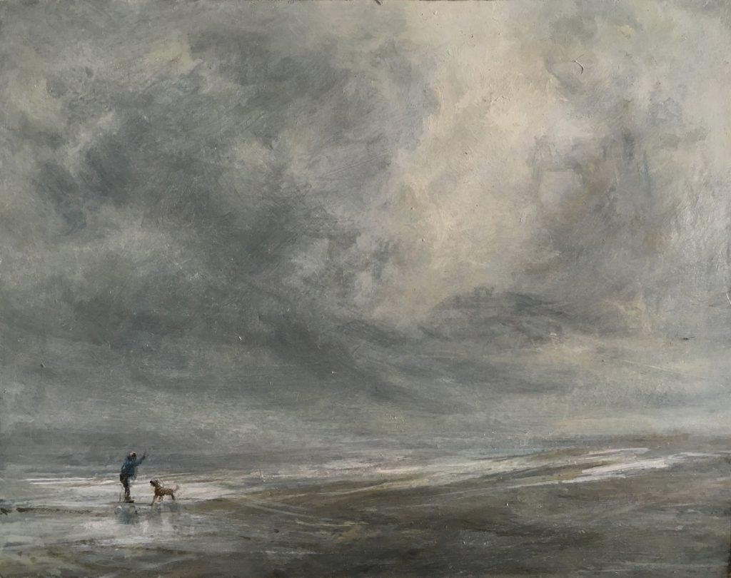 One Man One Dog, Seasalter, print, £60 - £110