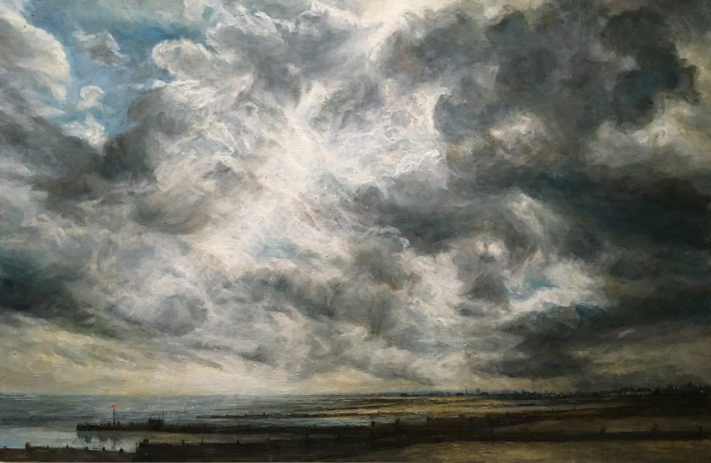Looking into the Sun, Whitstable. 92 x 65 cms