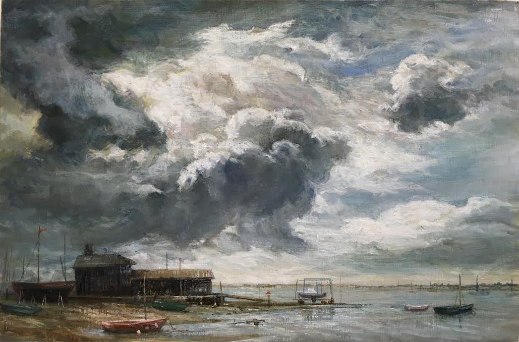 Boat House,  (40 x 48 cms)